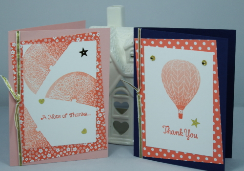 Handmade Greeting Cards using Ombre Effect Ink and Stampin' Up products