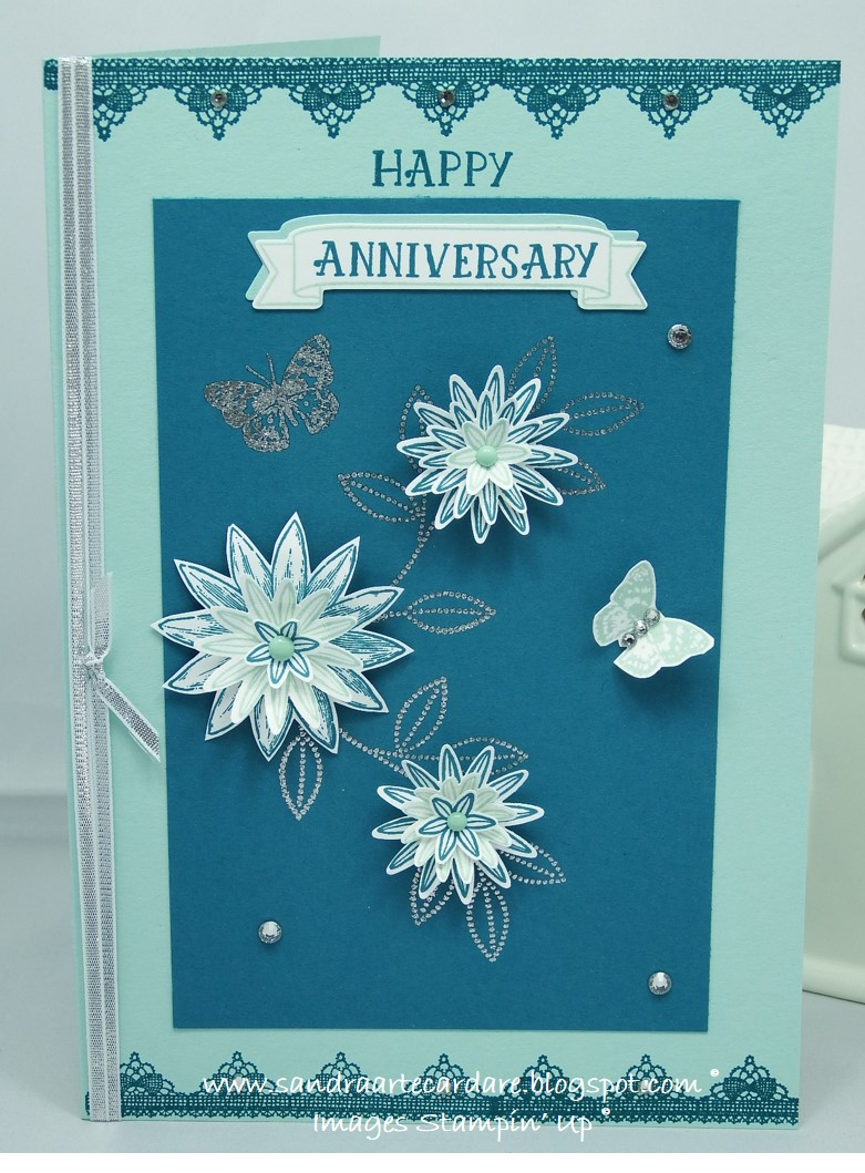 Anniversary card stampin up arty paper crafters