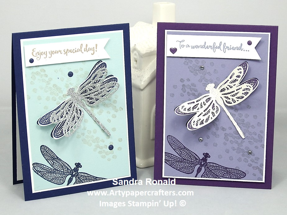 Stampin\' Up! Sparkly Dragonfly | Arty Paper Crafters