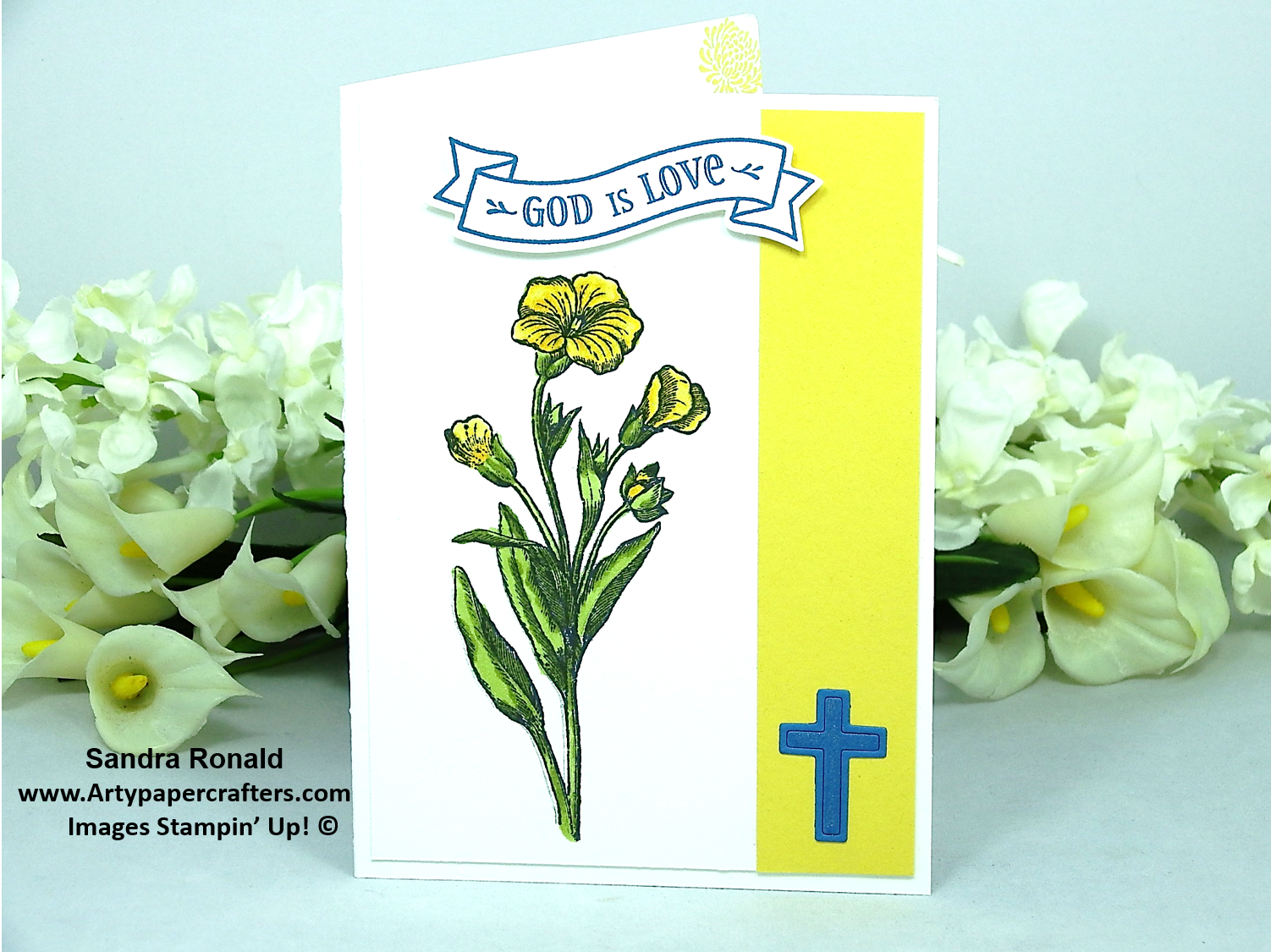 Stampin up happy easter arty paper crafters my simple but powerful card today uses cross of hope stamp set and matching dies and the simple i think convulvus flower from butterfly basic stamp set negle Image collections