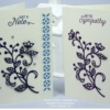 Handmade Greetings Card using Stampin' Up Flourish Thinlits Dies
