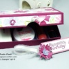 GIFT BOX for Nail Care Kit made using Hand Stamped DSP and Stampin' Up Products
