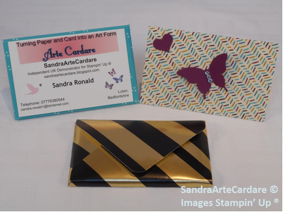 Business card tutorial with fabulous velcro fastening arty paper the envelope punch board was used to create my business cards and they are so easy to make they take just minutes i have used the cherry on top designer colourmoves