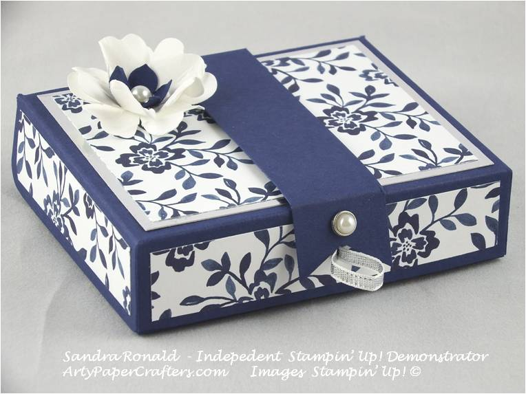 elegant gift box arty paper crafters