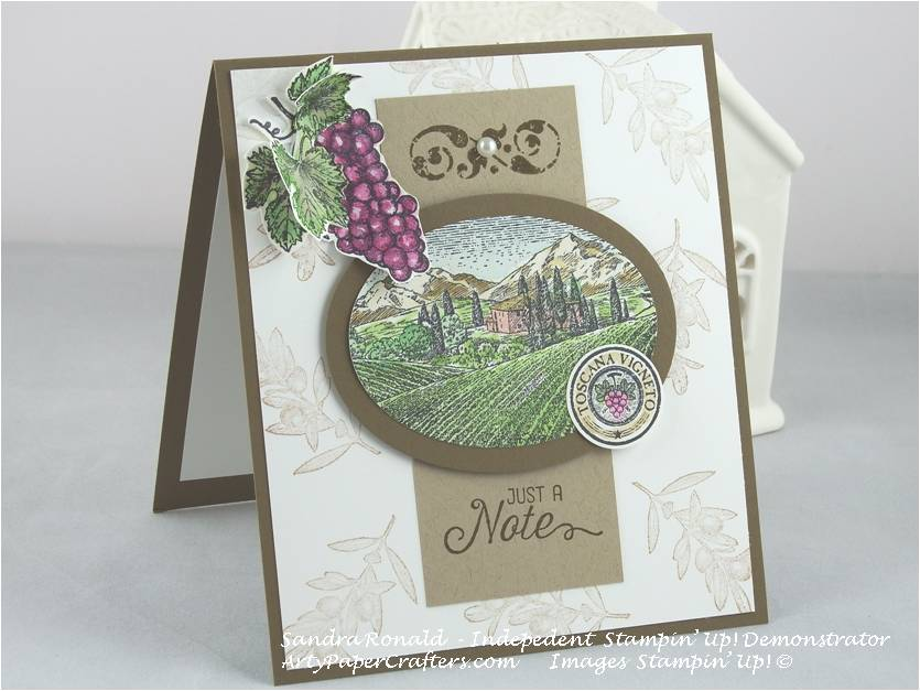 Handmade greeting card arty paper crafters this is card number 2 that i have made with this fantastic tuscan vineyard stamp set from stampin up card number 1 was showcased by me on friday 5th m4hsunfo