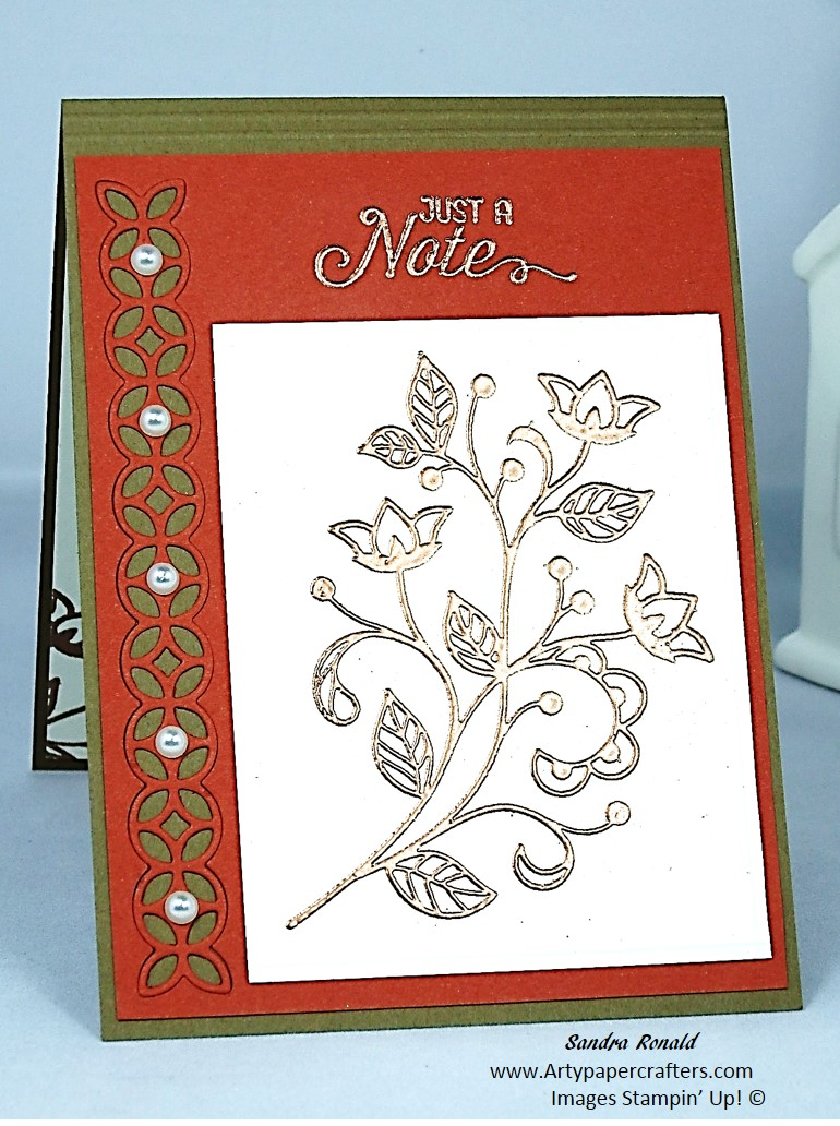 Flourishing Phrases Greetings Card With Copper Embossing Arty