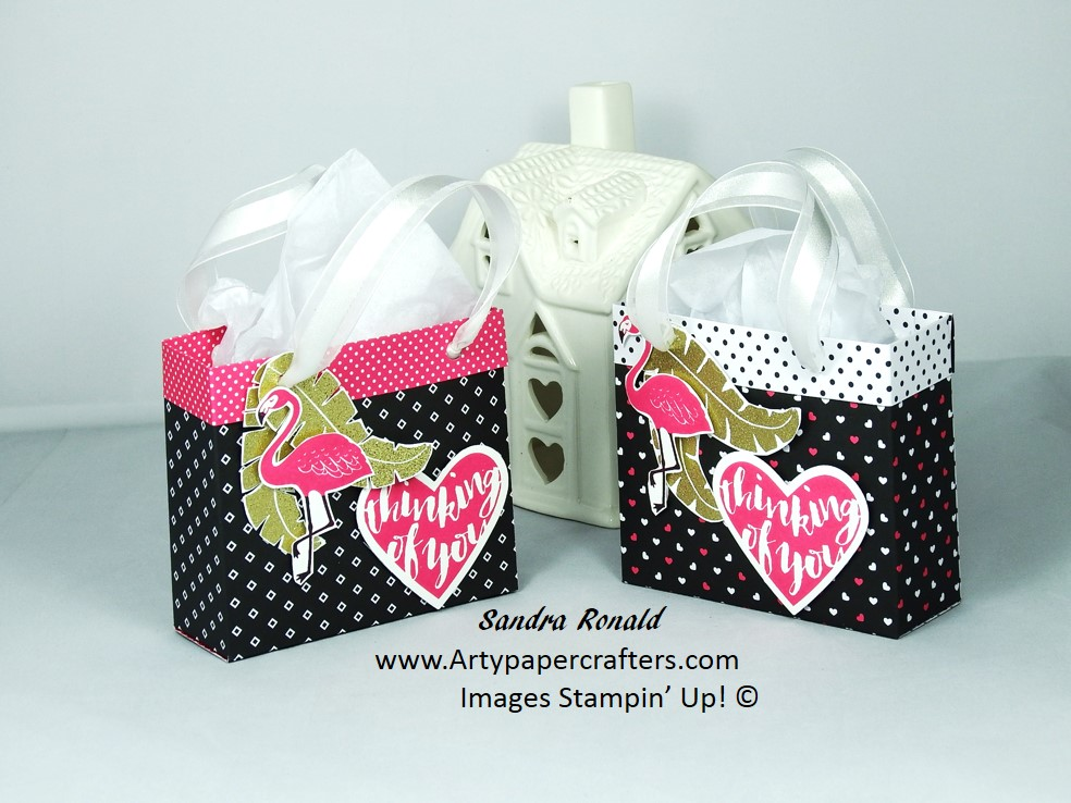 Handmade Gift Bag Stampin Up Arty Paper Crafters