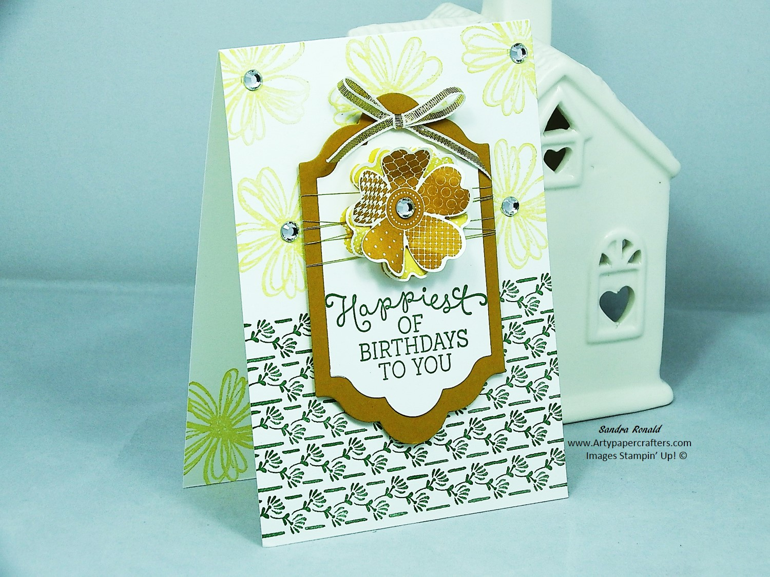 Handmade Birthday Card Using Flower Shop And Floral Phrases From Stampin Up