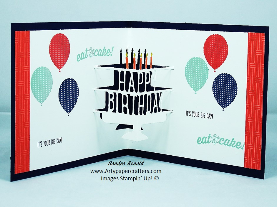 Handmade Pop Up Birthday Card Using Party Dies Stampin