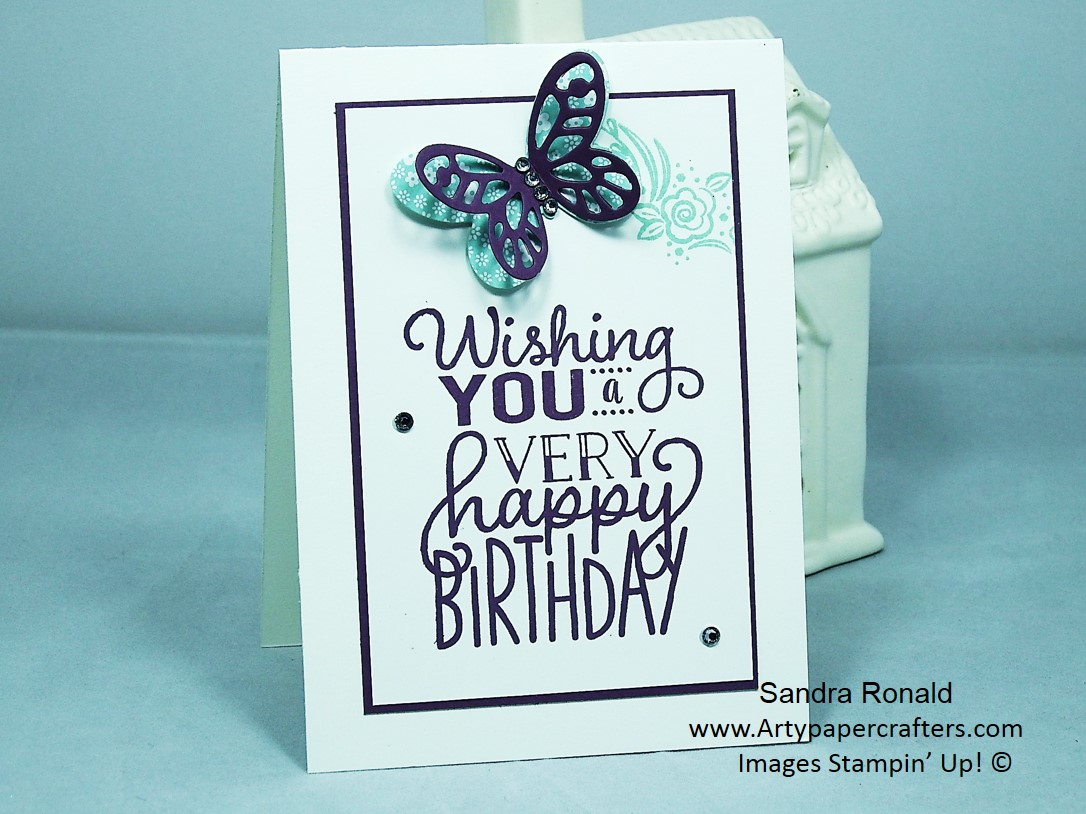 Handmade Birthday Card Arty Paper Crafters