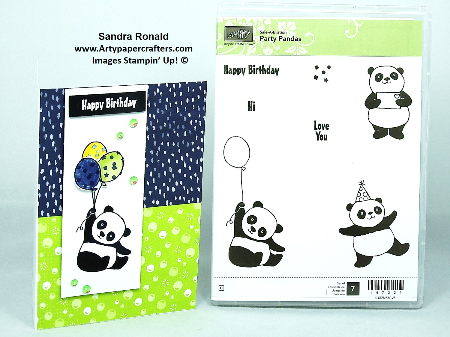 Cute Party Pandas Birthday Card Sale A Bration